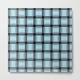 Large Light Blue Weave Metal Print