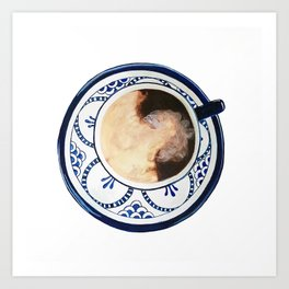 Cup of Coffee and Cream Art Print