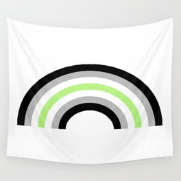 Agender Rainbow Wall Tapestry