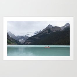 Lake Louise Quiet and Peace Art Print