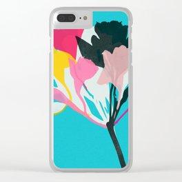 alstroemeria 1 Clear iPhone Case