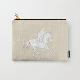Eventing in Tan Carry-All Pouch
