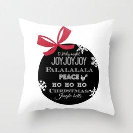 Christmas subway art ornament Throw Pillow
