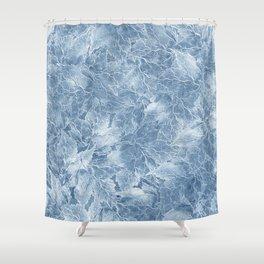 Frozen Leaves 7 Shower Curtain