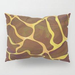 Giraffe Brown and Yellow Print Pillow Sham