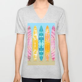 Tie Dye Surfboards Unisex V-Neck