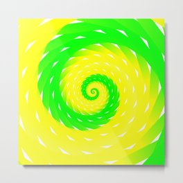 rotation spiral Metal Print