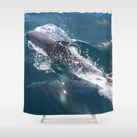 dolphin Shower Curtains featuring Dolphin by WonderfulDreamPicture