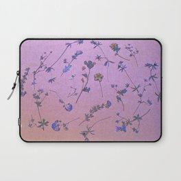 Vintage Lilac Wildflowers Laptop Sleeve