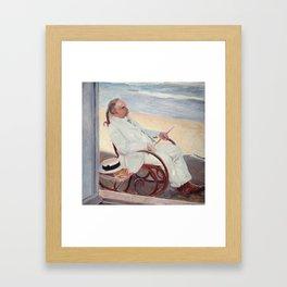 Antonio García at the Beach - Joaquín Sorolla Framed Art Print