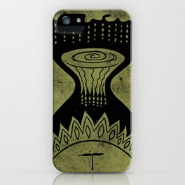 Healing (Black) iPhone Case