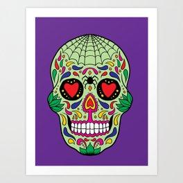 Colorful Skull VI Art Print