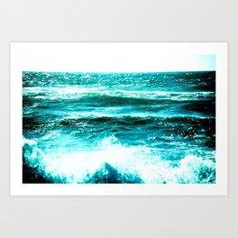 California Ocean Waves Art Print