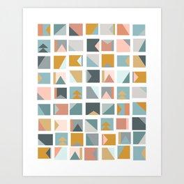 Mini Quilt Blocks Art Print