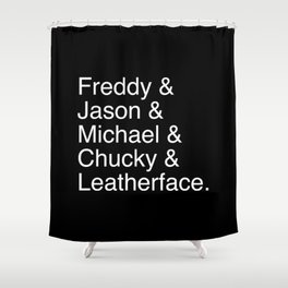 Horror's Best Shower Curtain