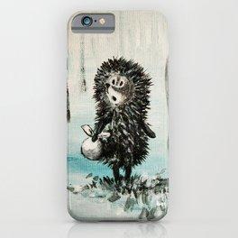 Hedgehog in the fog iPhone Case