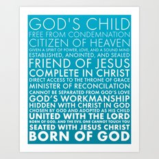 Identity in Christ Art Print