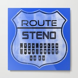 Route Steno Metal Print