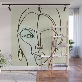 Strong Girl With Earring Wall Mural