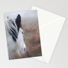 Profile of a Black and White Horse Stationery Cards