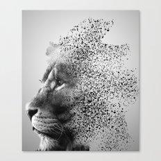 Inside a lions mind Canvas Print