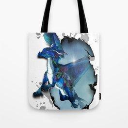Cute Dragon in blue Tote Bag