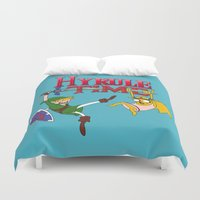 hyrule Duvet Covers featuring Hyrule Time by Marcos Raya Delgado