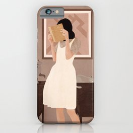 Losing Myself in a Book iPhone Case