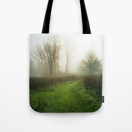 Beautiful Morning - Autumn Field in Fog Tote Bag
