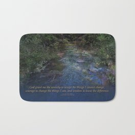 Serenity Prayer Blue Creek Bath Mat