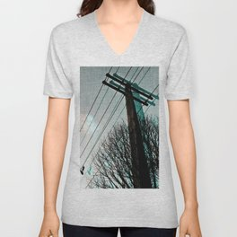 hanging by a string Unisex V-Neck