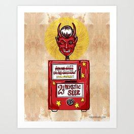 Twilight Zone Mystic Seer Art Print