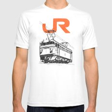 On Paper: JR EF65-100 Mens Fitted Tee White MEDIUM
