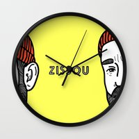 zissou Wall Clocks featuring Zissou #2 by Daniel Feldt