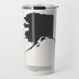 Alaska Minimalist State Map with Stats Travel Mug
