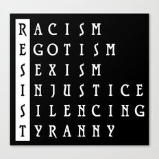 Resist : a political protest Canvas Print