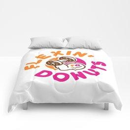 Flexin Donuts Comforters