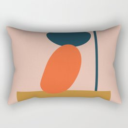 Abstract #1 Orange Blue Beige Rectangular Pillow