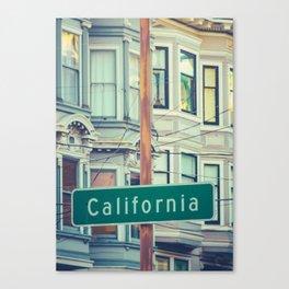 Retro California Street Sign Canvas Print