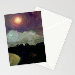 The Killing Moon nighttime beach landscape by Gustaw Gwozdecki Stationery Cards
