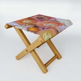 Flower Design 13 Folding Stool