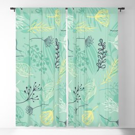 the yellow flower Blackout Curtain