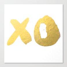 XO gold Canvas Print