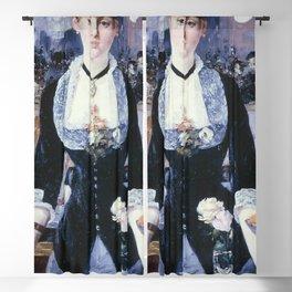 A BAR AT THE FOLIES-BERGERE - EDOUARD MANET  Blackout Curtain