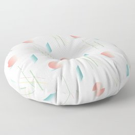Swimming Pools and Coral Suns Floor Pillow