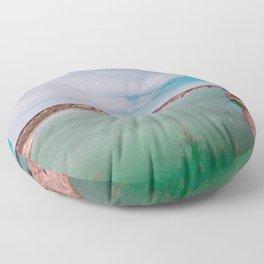 Green Waters Floor Pillow