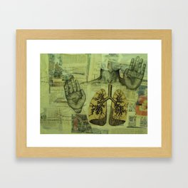 The Infinite Mind of a Sinner: Unraveling The Map of Life Framed Art Print