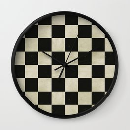 Distressed Chessboard Wall Clock