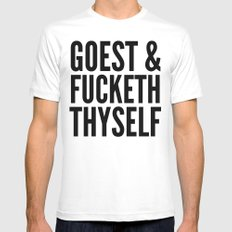 GOEST AND FUCKETH THYSELF MEDIUM Mens Fitted Tee White