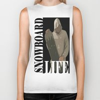 snowboard Biker Tanks featuring SNOWBOARD LIFE  by Robleedesigns